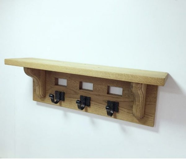 Coat rack solid Oak